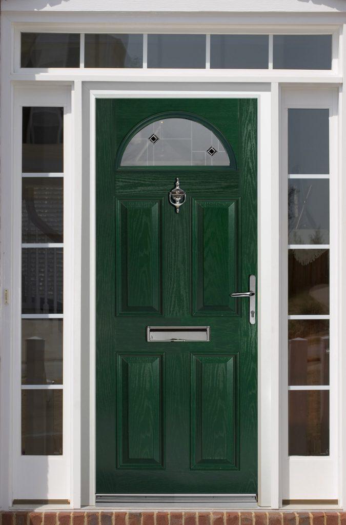 Green Composite front door