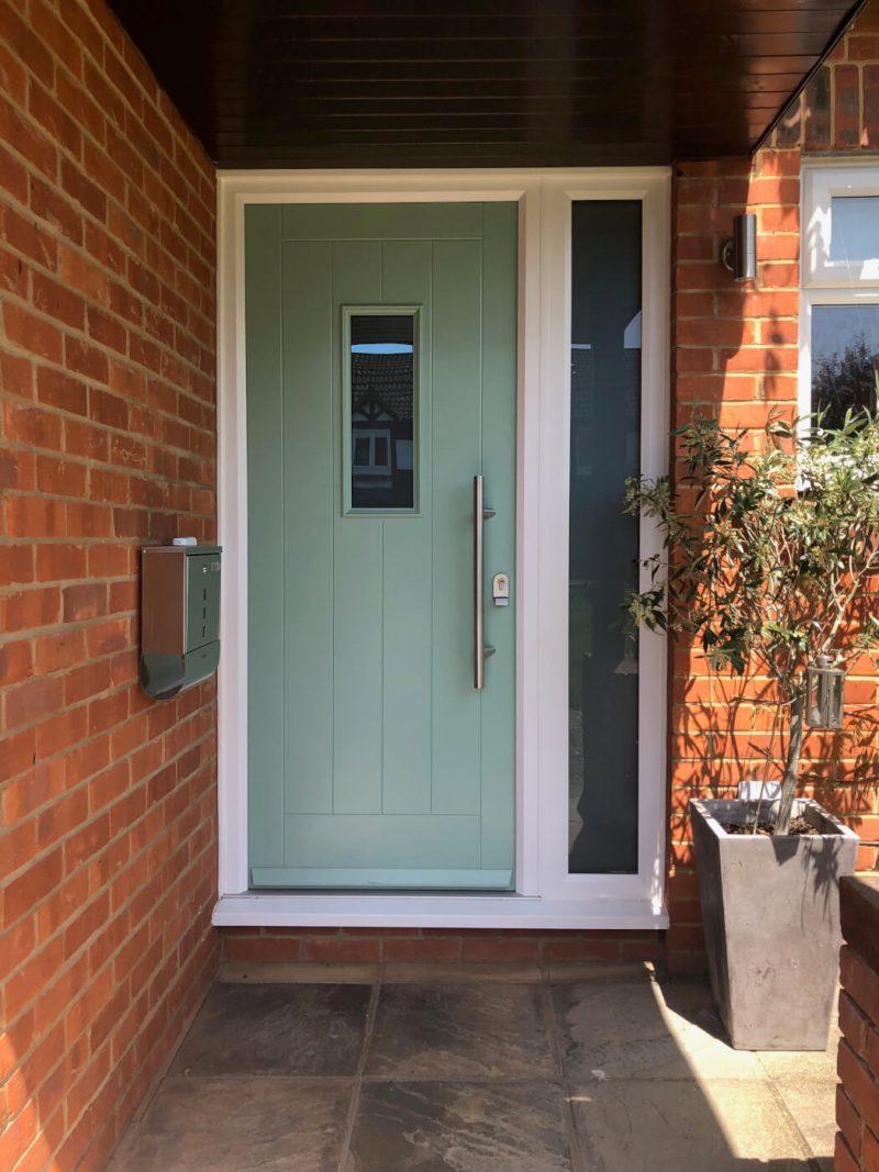 Chartwell green composite front door