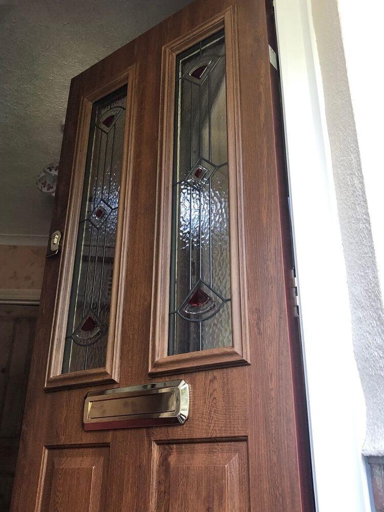 Brown front door