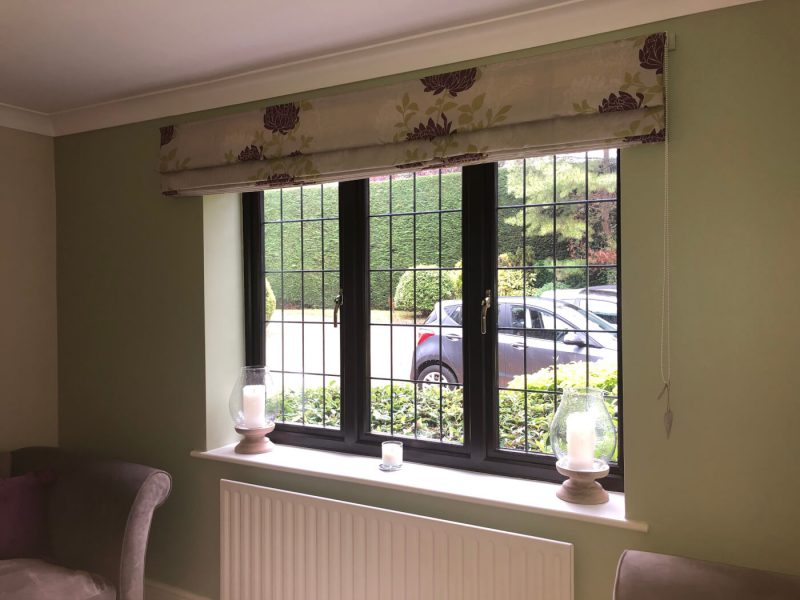 Interior view of rosewood slimline uPVC windows