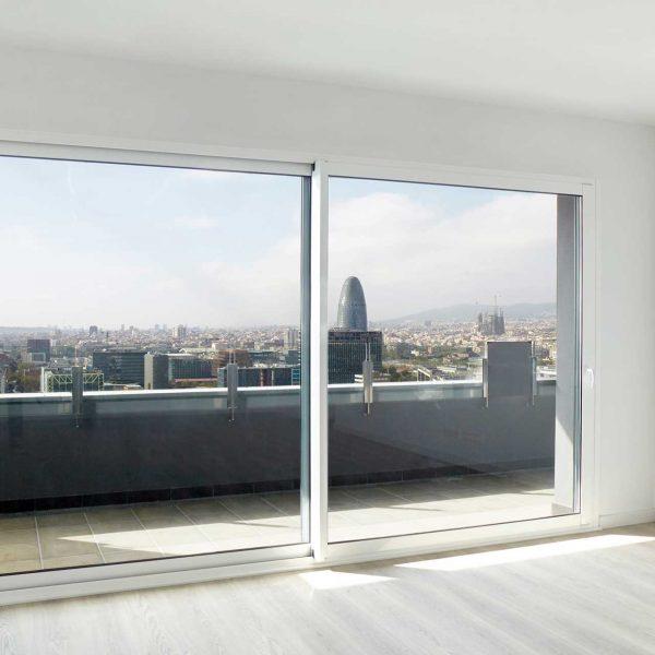 aluminium white sliding patio doors