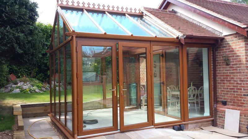 Oak timber conservatory