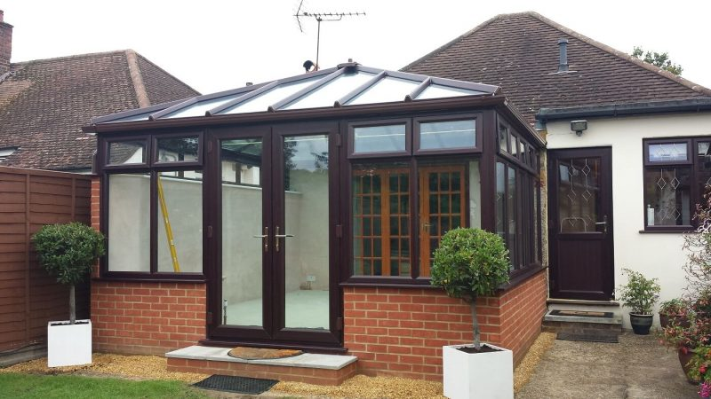 Rosewood timber conservatory