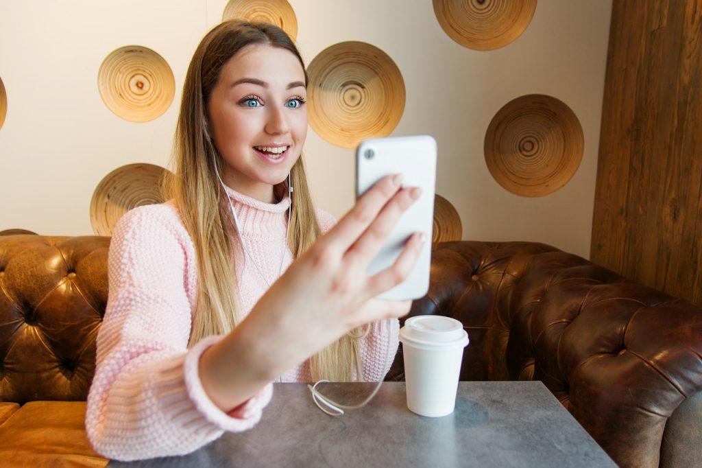 Girl video calling