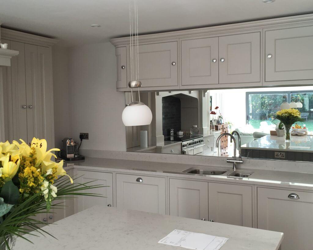 Mirror in kitchen