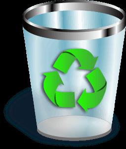 Recycling trashcan