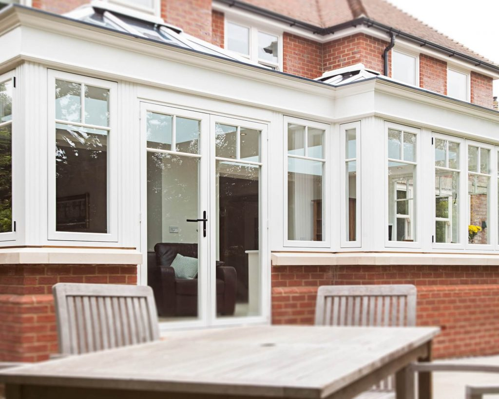 uPVC orangery in cream