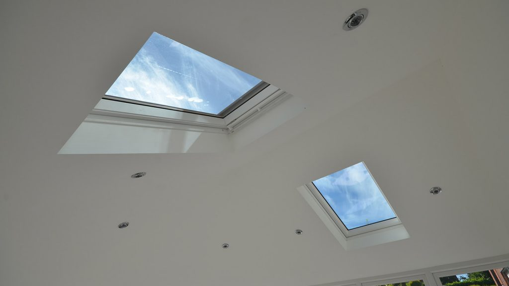 Guardian conservatory roof replacement with Velux windows