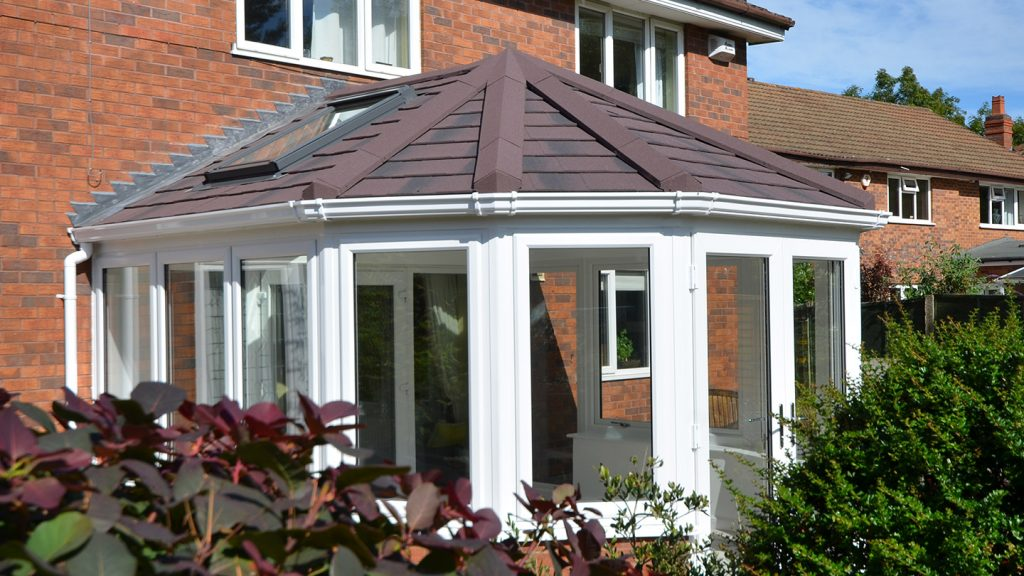 Victorian guardian roof conservatory with Velux window