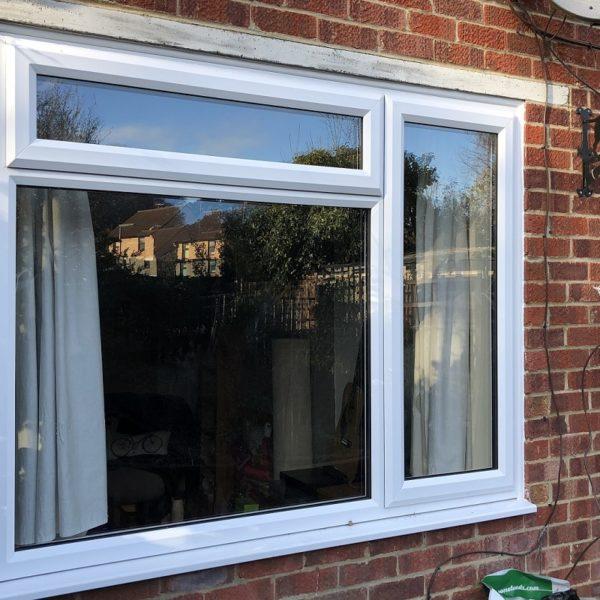 White uPVC slimline window