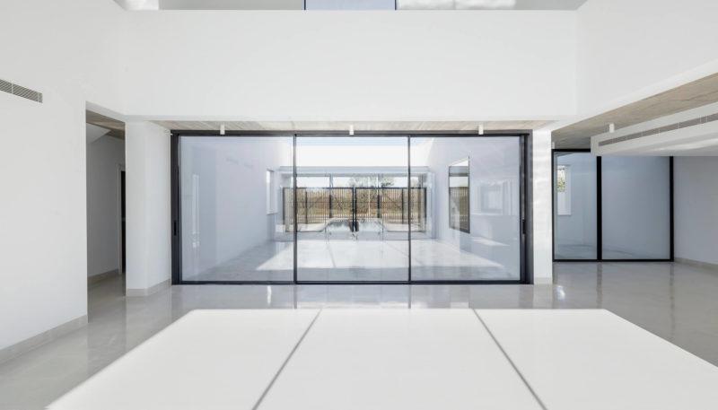Cortizo vision plus aluminium sliding doors with 3 panels
