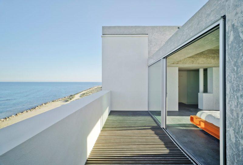 White cortizo 2 panel patio doors
