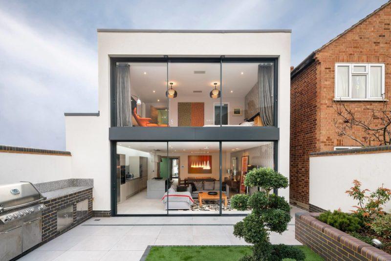 Anthracite Grey Cor Vision Plus slimline sliding doors
