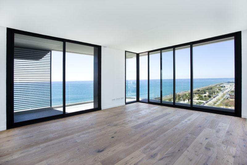 2 sets of black cortizo 4200 sliding doors